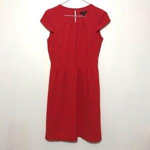 J.Crew Red Cap Sleeve Sheath Dress sz 2
